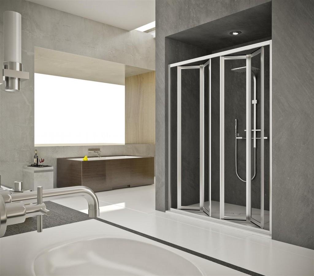 Mamparas de ducha plegables