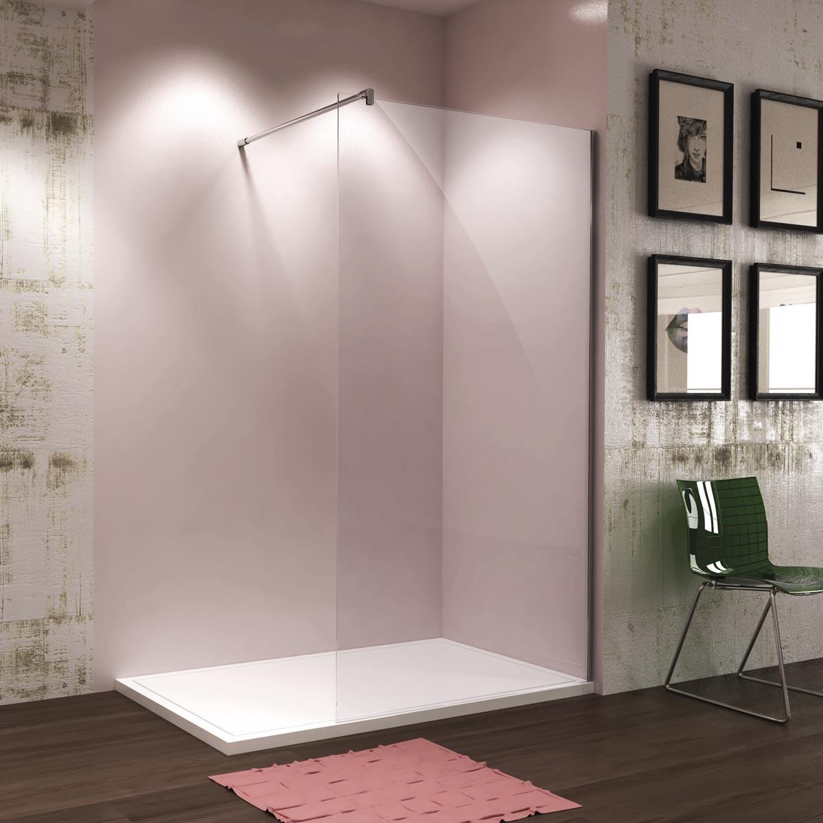 Mamparas de ducha y ba o cristal fijo de corte recto - Cristal fijo para ducha ...